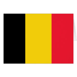 Cartão Bandeira de alta qualidade de Bélgica