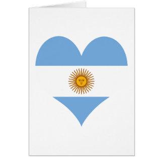 Cartão Bandeira de Argentina