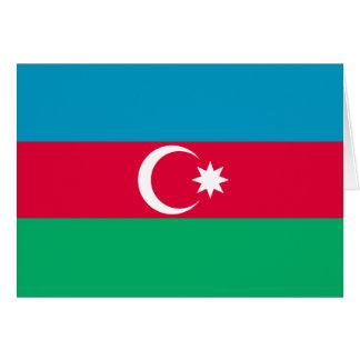 Cartão Bandeira de Azerbaijan