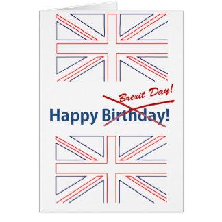 Cartão Bandeira de Brexit Ingleses