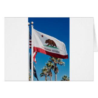 Cartão Bandeira de Califórnia