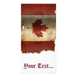 Cartão Bandeira de Canadá/Grunge…