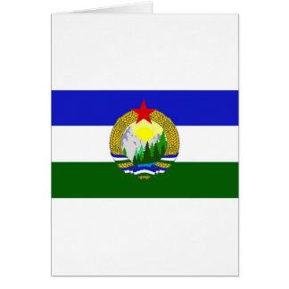 Cartão Bandeira de Cascadia socialista