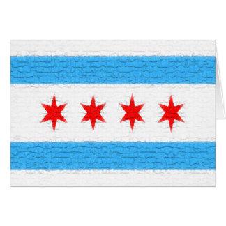 Cartão Bandeira de Chicago