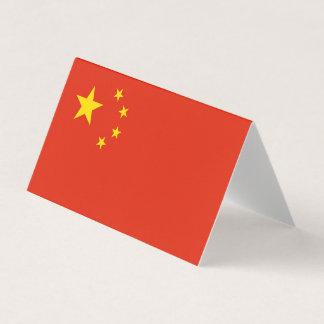 Cartão Bandeira de China