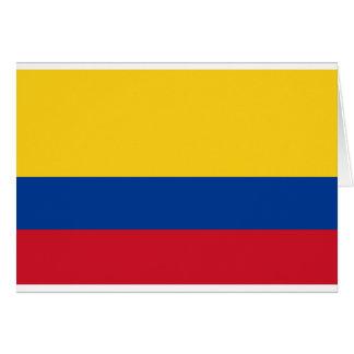 Cartão Bandeira de Colômbia - bandera de Colômbia