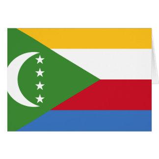 Cartão Bandeira de Cômoros