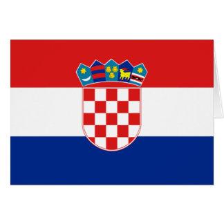 Cartão Bandeira de Croatia
