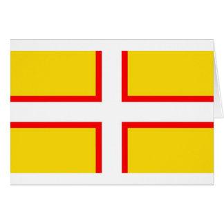 Cartão Bandeira de Dorset