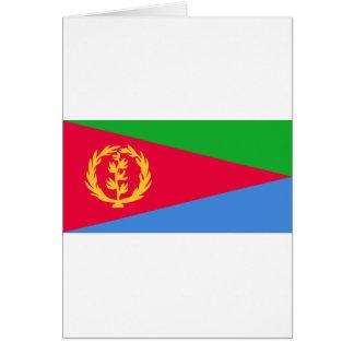 Cartão Bandeira de Eritrea - የኤርትራሰንደቅዓላማ - علمإريتريا