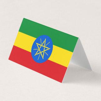 Cartão Bandeira de Etiópia