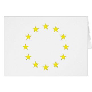 Cartão Bandeira de Europa - bandeira européia - União