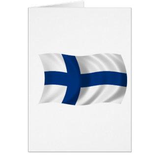 Cartão Bandeira de Finlandia