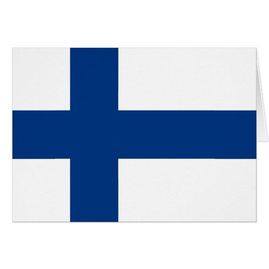 Cartão Bandeira de Finlandia (lippu de Suomen, flagga de