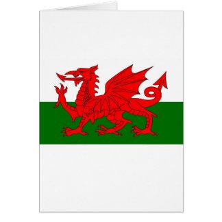 Cartão bandeira de galês