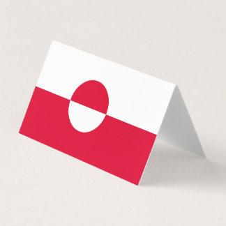 Cartão Bandeira de Greenland