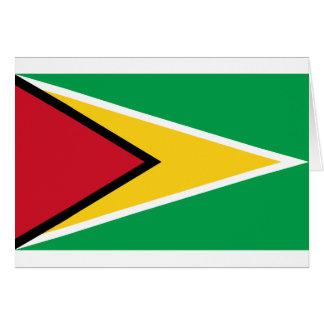 Cartão Bandeira de Guyana