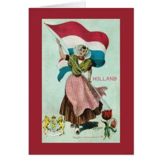 Cartão Bandeira de Holland - (reino dos Países Baixos)
