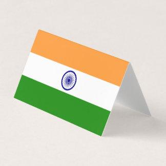 Cartão Bandeira de India