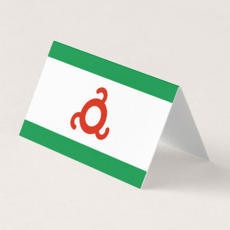 Cartão Bandeira de Ingushetia