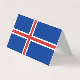 Cartão Bandeira de Islândia