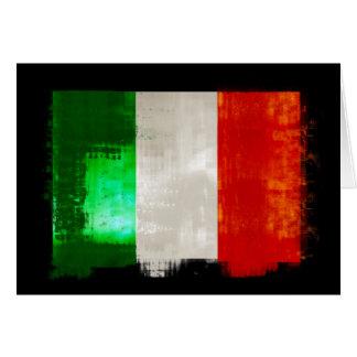 Cartão Bandeira de Italia do Grunge para italianos de
