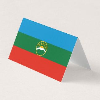 Cartão Bandeira de Karachay-Cherkessia