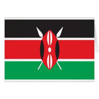 Cartão Bandeira de Kenya