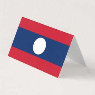 Cartão Bandeira de Laos