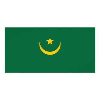 Cartão Bandeira de Mauritânia