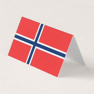 Cartão Bandeira de Noruega