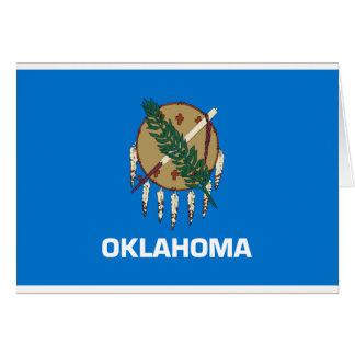 Cartão Bandeira de Oklahoma
