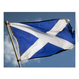 Cartão bandeira de scotland grande