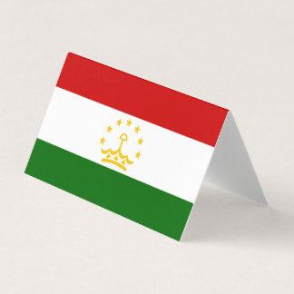 Cartão Bandeira de Tajikistan
