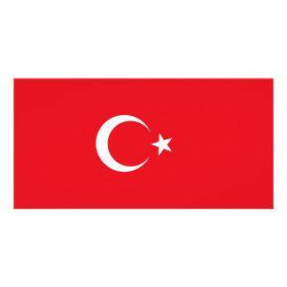 Cartão Bandeira de Turquia