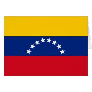 Cartão Bandeira de Venezuela