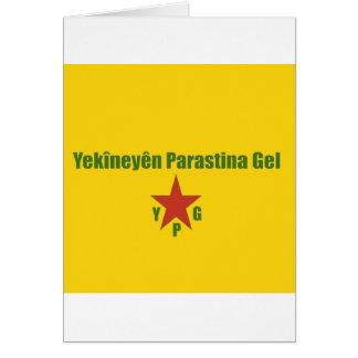 Cartão Bandeira de YPG