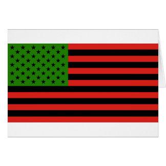 Cartão Bandeira do afro-americano - preto e verde