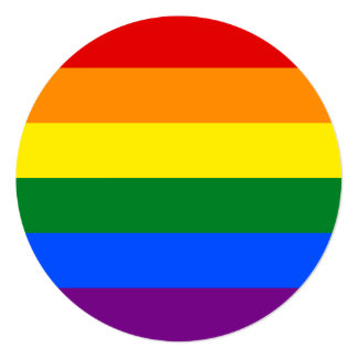 Cartão Bandeira do arco-íris