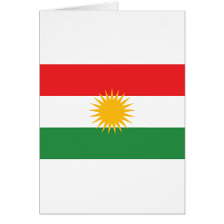 Cartão Bandeira do Curdistão; Curdo; Curdo