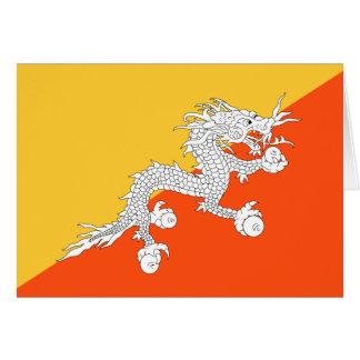 Cartão Bandeira do dragão do trovão de Bhutan