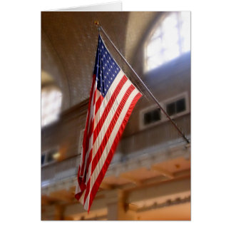 Cartão Bandeira do Ellis Island