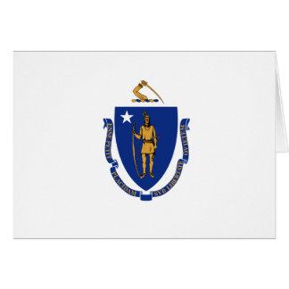 Cartão Bandeira do estado de Massachusetts