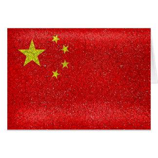 Cartão Bandeira do estilo do Grunge de China