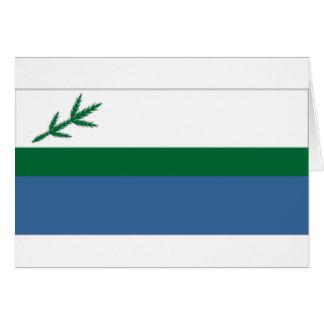 Cartão Bandeira do local de Canadá Labrador