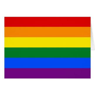 Cartão Bandeira do orgulho de LGBT
