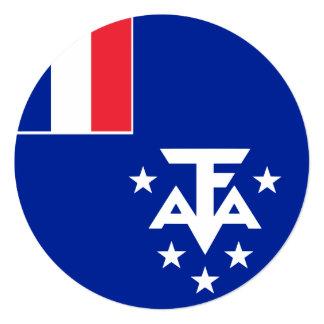 Cartão Bandeira do sul e antárctica francesa das terras