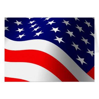 Cartão Bandeira dos Estados Unidos