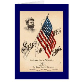 Cartão Bandeira dos Estados Unidos para sempre