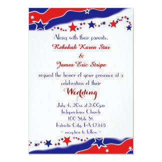 Cartão Bandeira dos Estados Unidos que Wedding